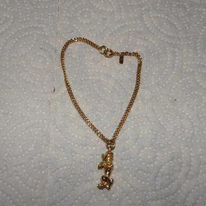 Vintage Monet Child's Poodle Charm Bracelet